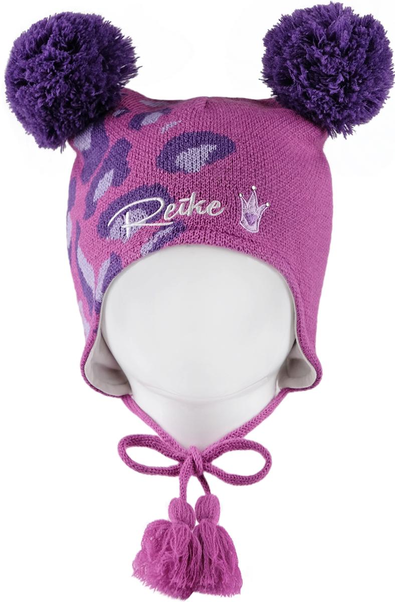 Шапка для девочек Reike, цвет: фуксия. RKN1718-3_FE fuchsia. Размер 50RKN1718-3_FE fuchsia