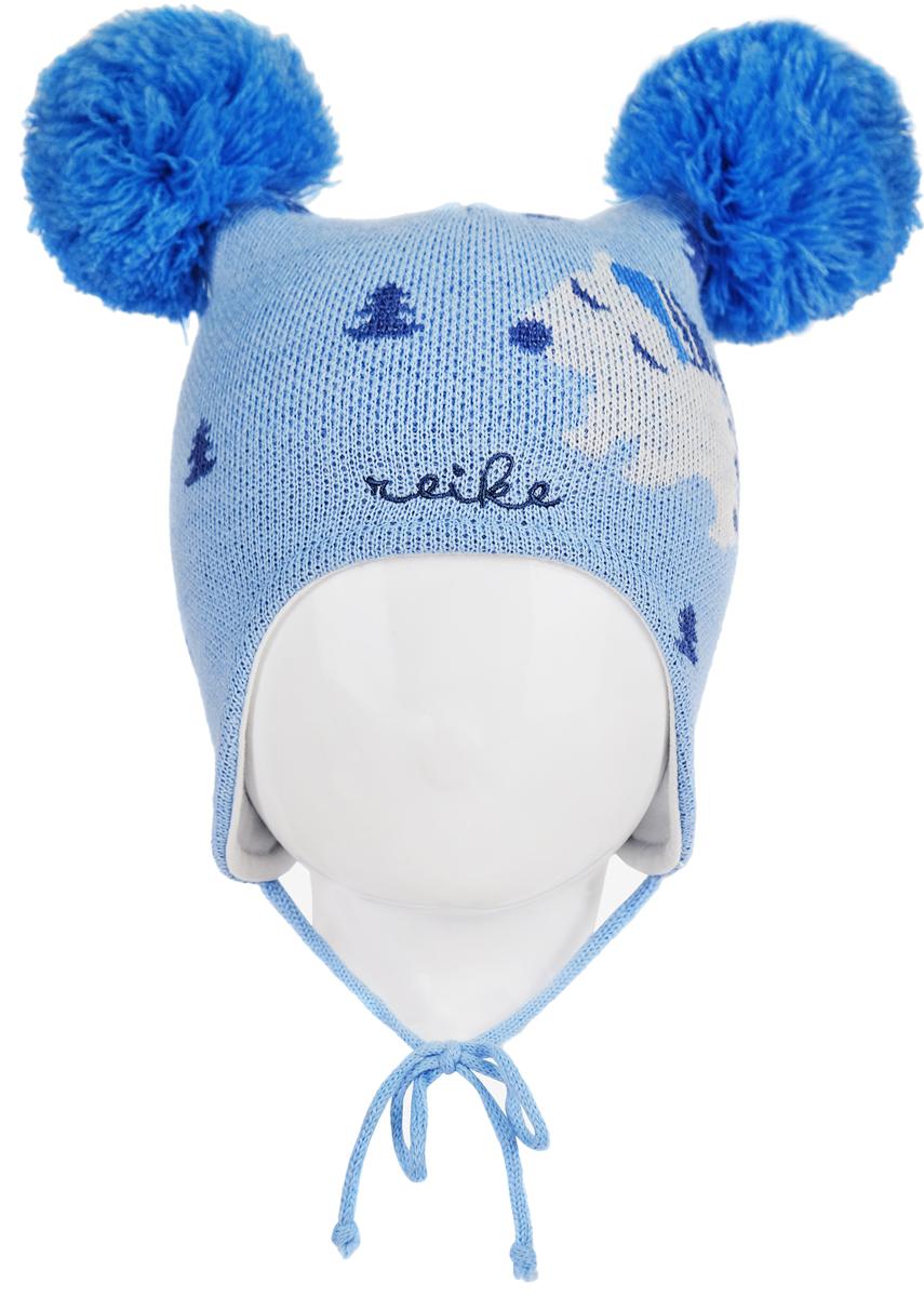 Шапка для мальчика Reike Полярный мишка, цвет: синий. RKN1718-1_PBR blue. Размер 40RKN1718-1_PBR blueШапка на завязках Reike Полярный мишка изготовлена из высококачественного материала на основе шерсти и акрила. Модель с хлопковой подкладкой дополнительно утеплена на ушках. Шапочка с двумя объемными помпонами украшена рисунком в стиле коллекции и вышивкой логотипа Reike.Уважаемые клиенты!Размер, доступный для заказа, является обхватом головы.