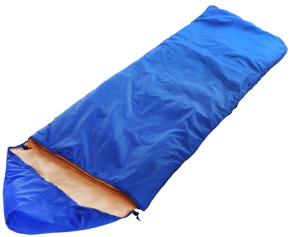 Спальный мешок Onlitop Престиж, цвет: синий, правосторонняя молния. 1344029 спальный мешок onlitop престиж цвет черный бежевый правосторонняя молния 1344029