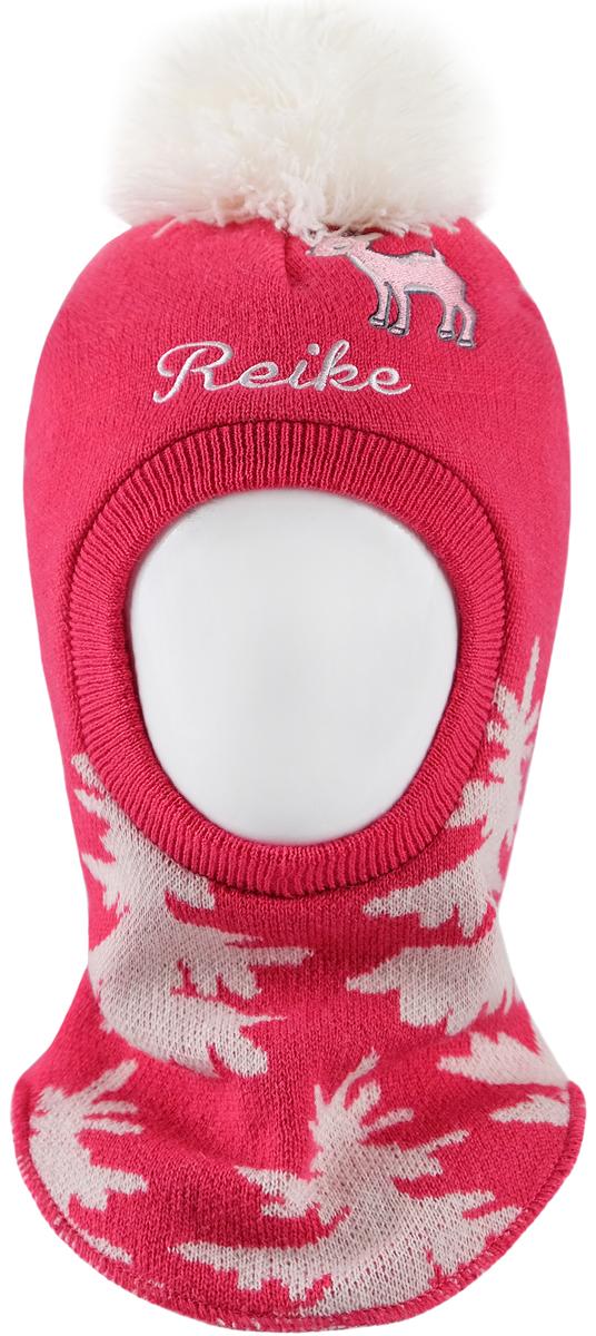 Шапка-шлем для девочек Reike, цвет: красный. RKN1718-2_DR berry. Размер 48RKN1718-2_DR berry