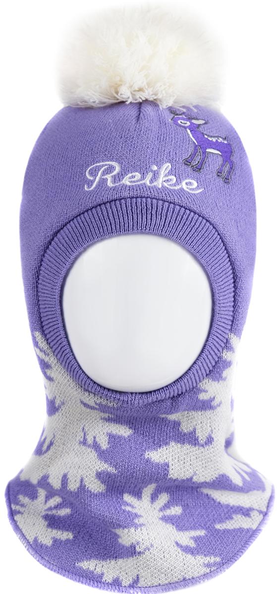 Фото Шапка-шлем для девочки Reike Олененок, цвет: фиолетовый. RKN1718-2_DR purple. Размер 48