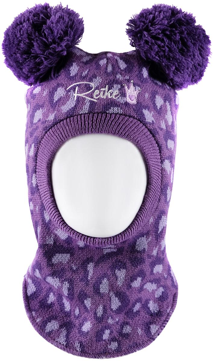Шапка-шлем для девочек Reike, цвет: фиолетовый. RKN1718-2_FE purple. Размер 50RKN1718-2_FE purple
