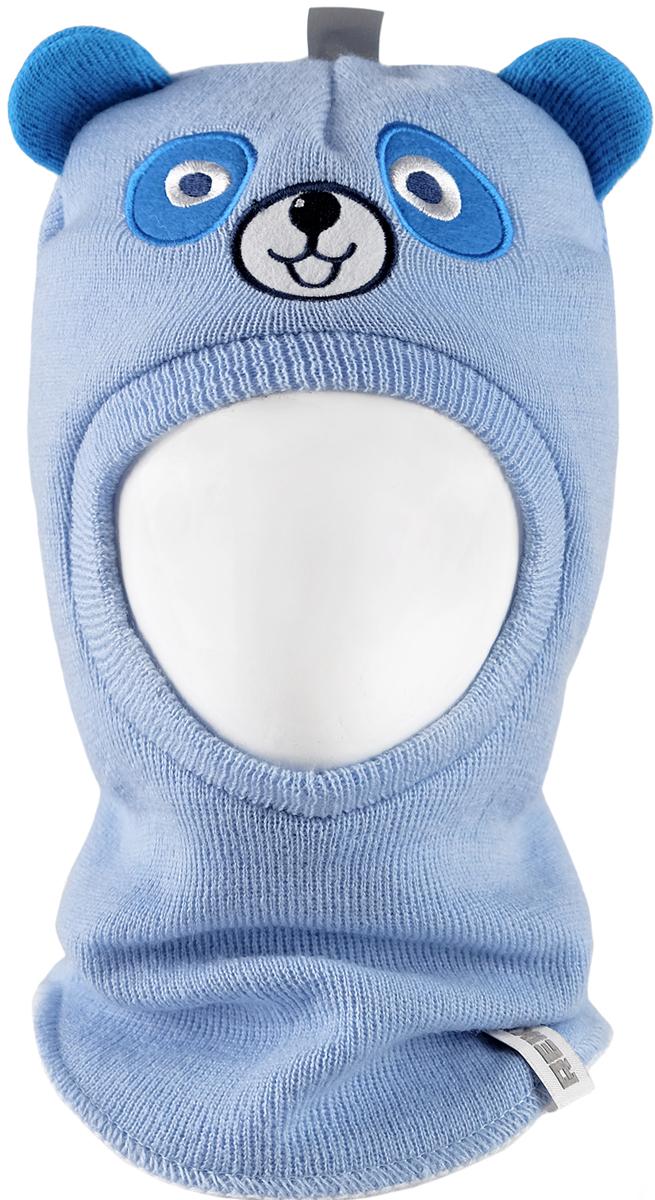 Шапка-шлем для мальчика Reike Панда, цвет: синий. RKN1718-2_PND blue. Размер 48RKN1718-2_PND blueШапка-шлем Reike Панда изготовлена из высококачественного материала на основе шерсти и акрила. Модель с хлопковой подкладкой дополнительно утеплена на ушках. Шлем с забавными ушками декорирован вышивкой, имитирующей мордочку панды. Шапка-шлем идеальна для ношения в зимние холода, так как надежно защищает шею и уши ребенка от холодного ветра. Уважаемые клиенты!Размер, доступный для заказа, является обхватом головы.