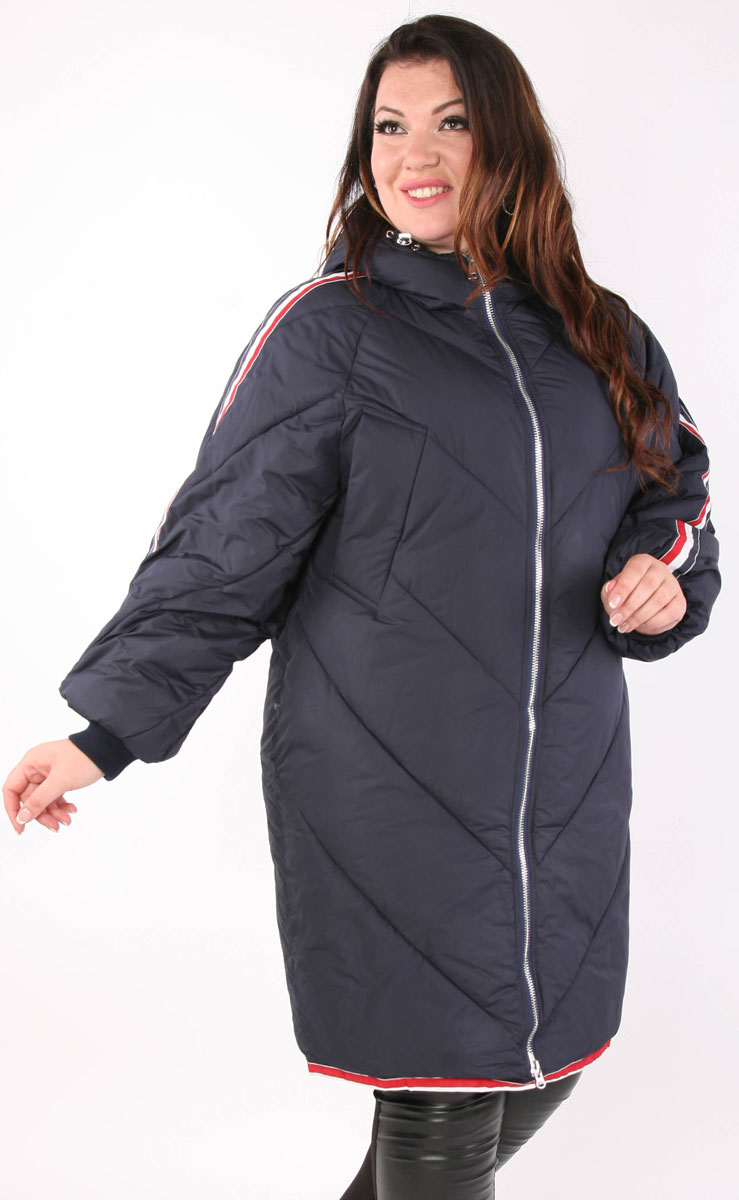 Пальто женское Viarichi, цвет: синий. K5045. Размер 50/52K5045Полуспортивное пальто свободного силуэта Viarichi выполнено из полиэстера с утеплителем из биопуха застегивается на металлическую застежку-молнию. Подкладка также изготовлена из качественного полиэстера. Модель с капюшоном дополнена прострочкой. Спереди куртка оснащена двумя втачными карманами. Манжеты на рукавах выполнены из широкой трикотажной резинки. Капюшон дополнен шнурком - кулиской со стопперами.