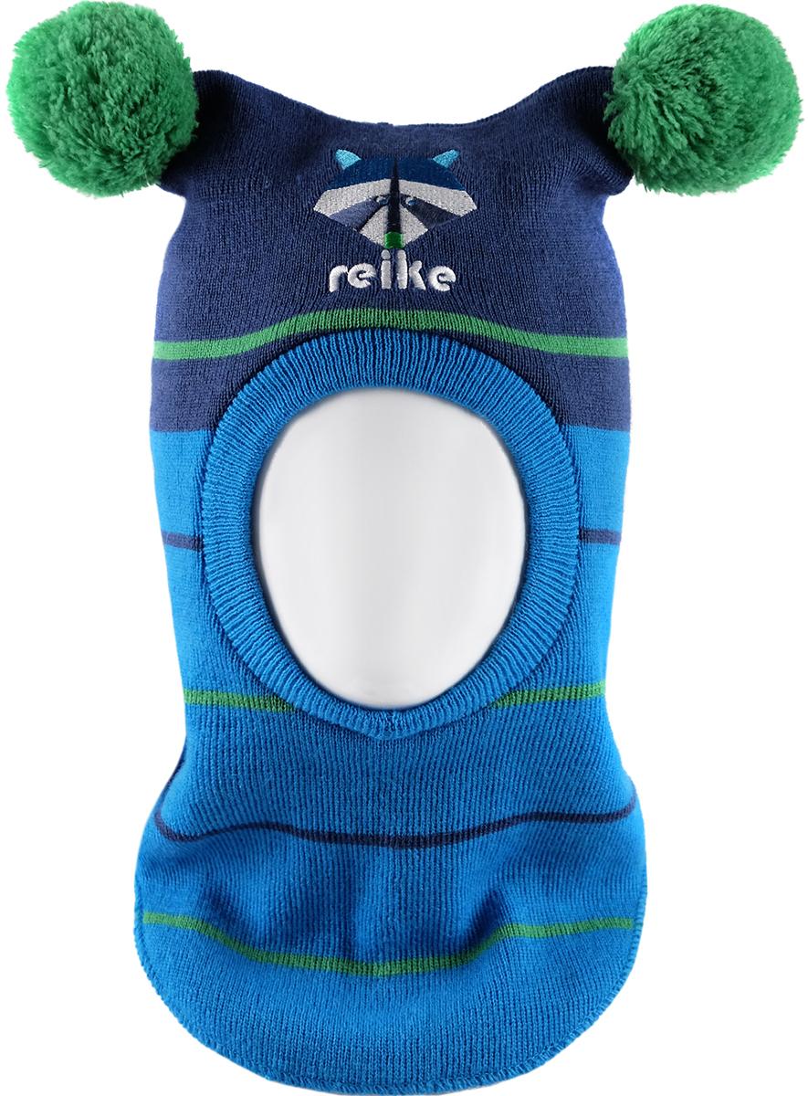 Шапка-шлем для мальчика Reike Енот, цвет: темно-синий. RKN1718-2_RCN navy. Размер 48RKN1718-2_RCN navyШапка-шлем Reike Енот изготовлена из высококачественного материала на основе шерсти и акрила. Модель с хлопковой подкладкой дополнительно утеплена на ушках. Шлем с двумя помпонами декорирован вышивкой с изображением енота и логотипа Reike. Шапка-шлем идеальна для ношения в зимние холода, так как надежно защищает шею и уши ребенка от холодного ветра. Уважаемые клиенты!Размер, доступный для заказа, является обхватом головы.