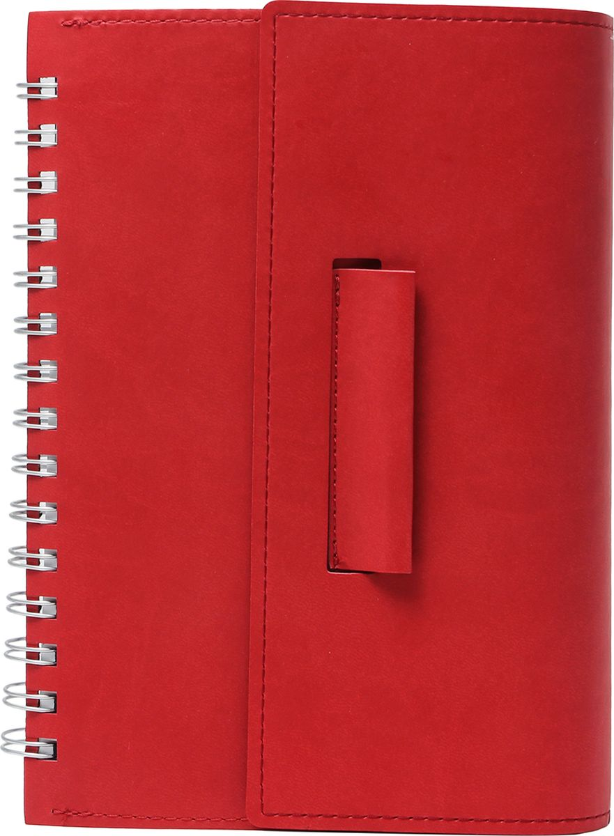 Бриз Бизнес-блокнот Вивелла 120 листов цвет красный1122-403Бизнес блокнот премиум класса сделан из итальянского высококачественного кожзама на скрытой пружине в индивидуальной упаковке с клапаном для ручки. Прошивка по периметру. Может использоваться старшеклассниками, студентами и деловыми людьми.