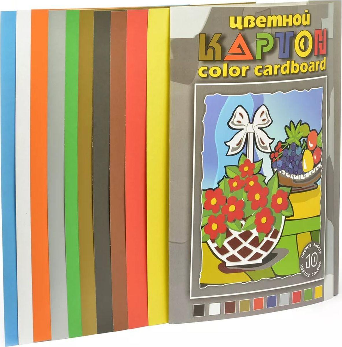 Палаццо Картон цветной Натюрморт 10 листов 10 цветовНКЦ 203/3Набор цветного картона Натюрморт формата А3. В набор входит картон из ярких разноцветных 10 листов.Прекрасно подходит для аппликаций и поделок. Идеален для занятий в детском саду, школе и дома.