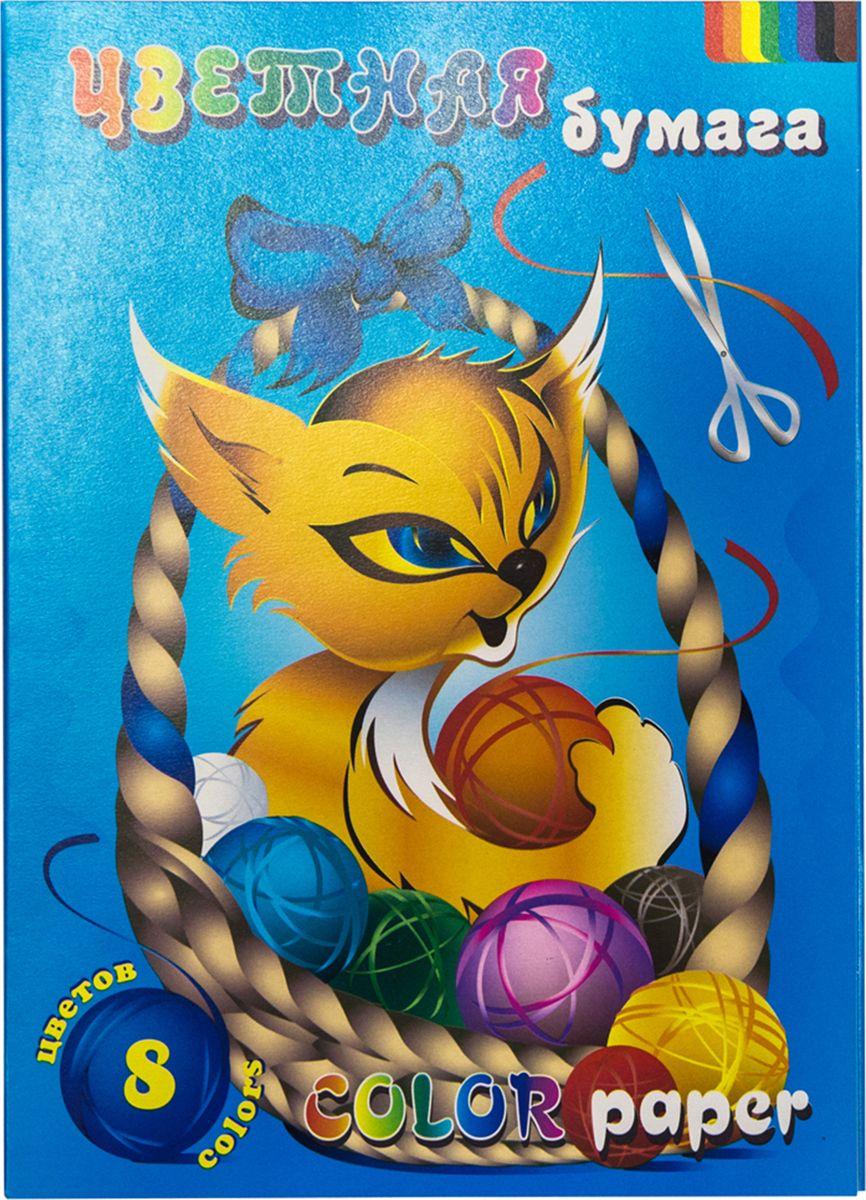Палаццо Бумага цветная Котик 16 листов 8 цветовЦБ-8Набор цветной бумаги А-4 «Котик», 8 цвет, 16л. Яркие и насыщенные и разнообразные цвета, позволят Вашему ребенку с удовольствием заниматься творчеством.