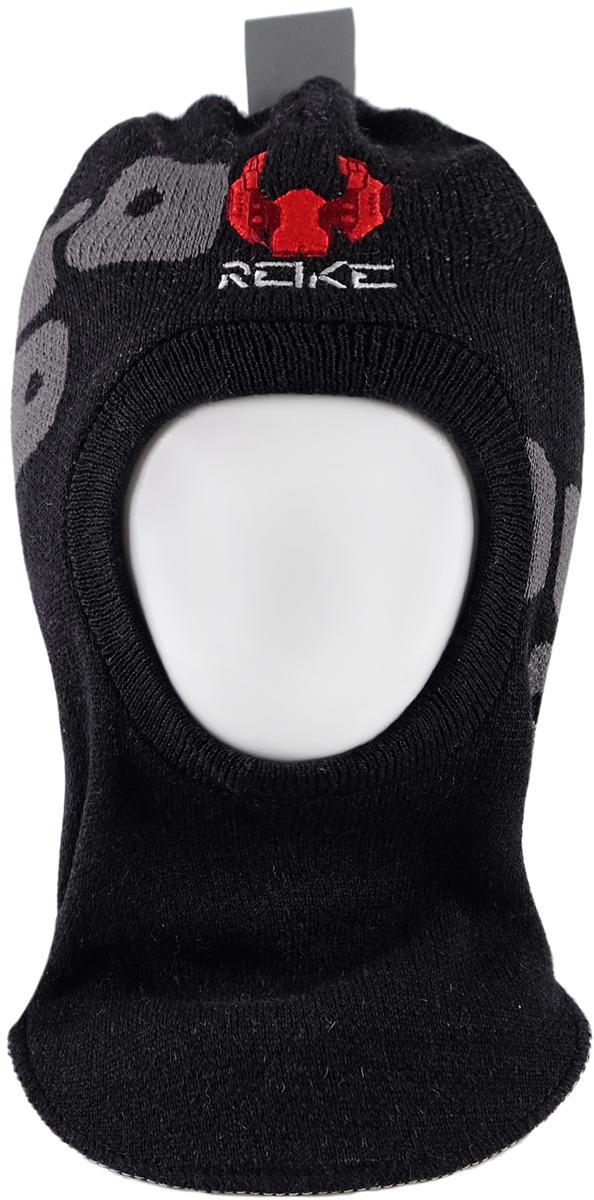 Шапка-шлем для мальчика Reike Галактика, цвет: черный. RKN1718-2_GLX black. Размер 52RKN1718-2_GLX blackШапка-шлем Reike Галактика изготовлена из высококачественного материала на основе шерсти и акрила. Модель с хлопковой подкладкой дополнительно утеплена на ушках. Шлем декорирован вышивкой в виде космолета и логотипа Reike.Шапка-шлем идеальна для ношения в зимние холода, так как надежно защищает шею и уши ребенка от холодного ветра. Уважаемые клиенты!Размер, доступный для заказа, является обхватом головы.