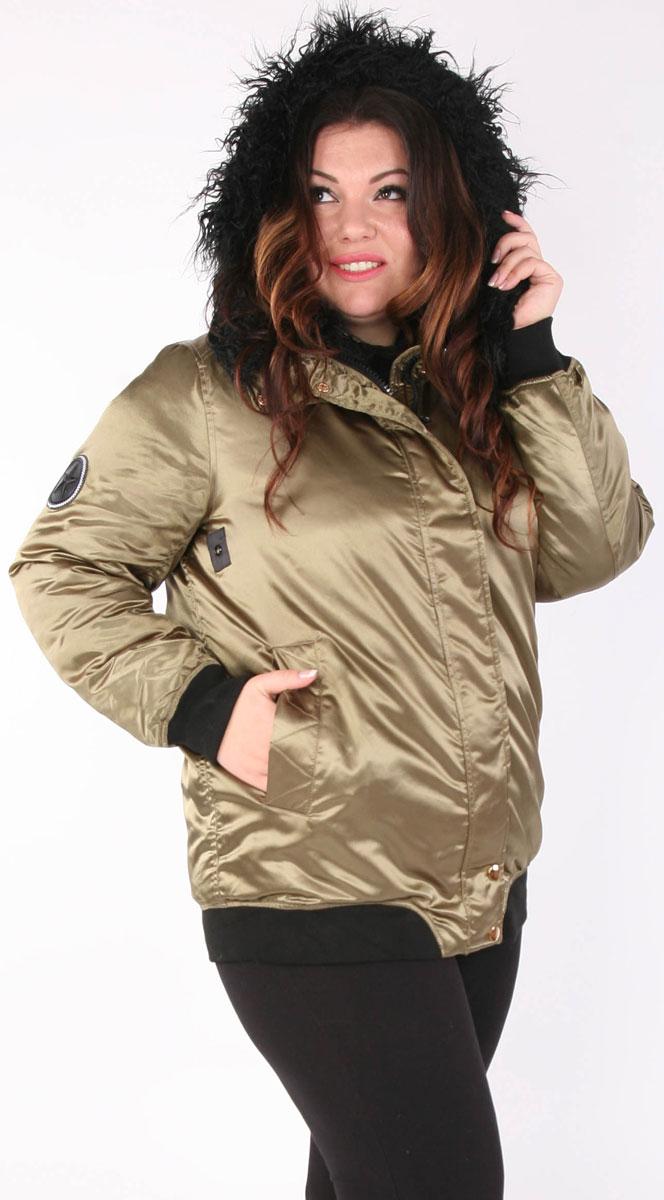Куртка женская Viarichi, цвет: зеленый. Y3663. Размер 50/52Y3663Стильная куртка спортивного типа с меховой отделкой. Цвет хаки – хит текущего сезона. Выдерживает температурный режим до минус 15 градусов. Наполнитель 100% биопух – гипоаллергенный, не сбивается, не мигрирует через ткань. Изделие прекрасно держит тепло, легкое, комфортное. Рукав на манжете – резинке. Серия карманов по бокам, на груди и на предплечье. Супер модный яркий выбор.