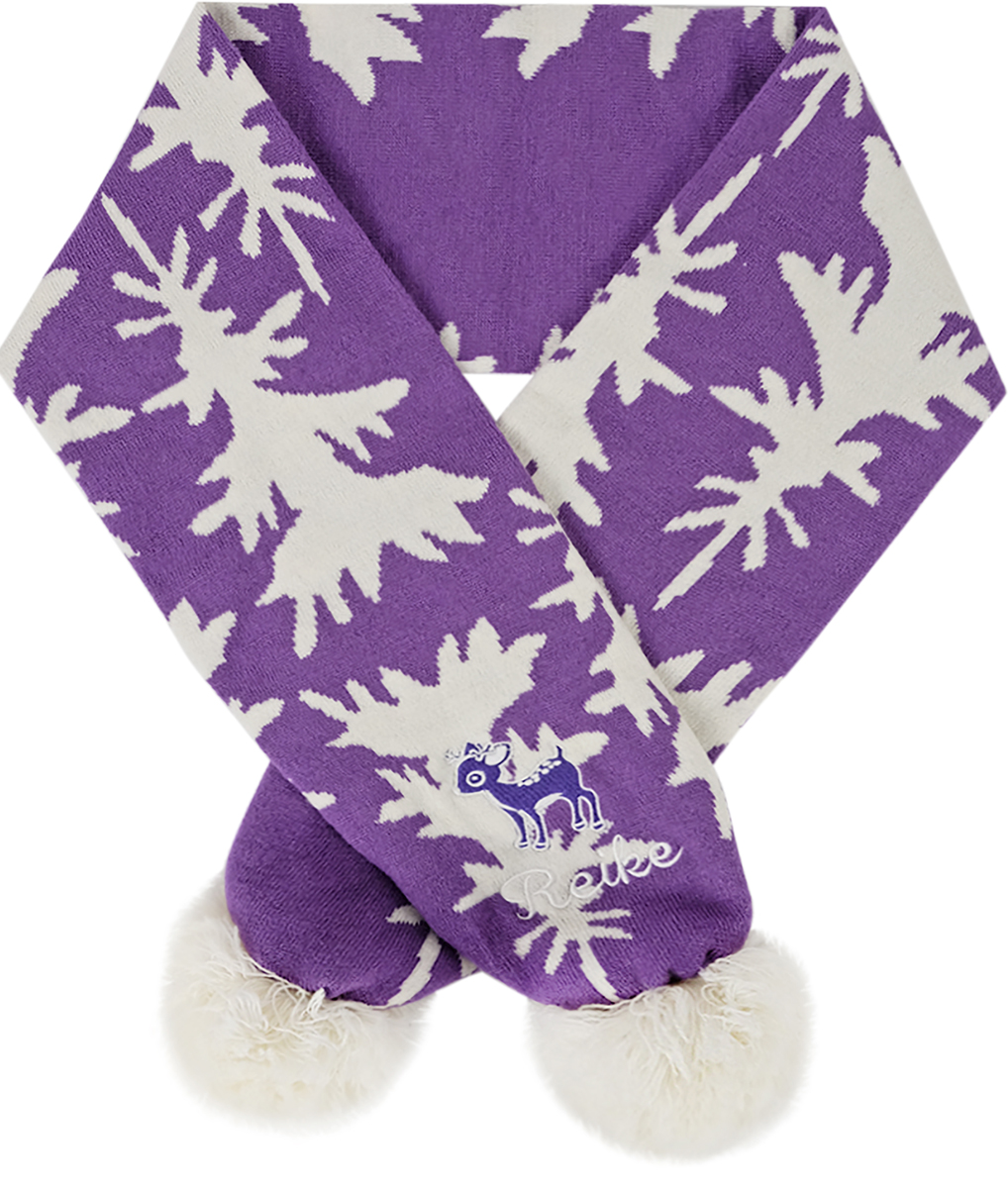 Шарф для девочек Reike, цвет: фиолетовый. RSC1718_DR purple. Размер универсальныйRSC1718_DR purpleШарф Reike двухслойной вязки выполнен из материала, который хорошо сохраняет тепло. Оформлен объемными помпонами и вышивкой. Незаменимый аксессуар для холодной осени и зимы. Размер 120х16,5 см.