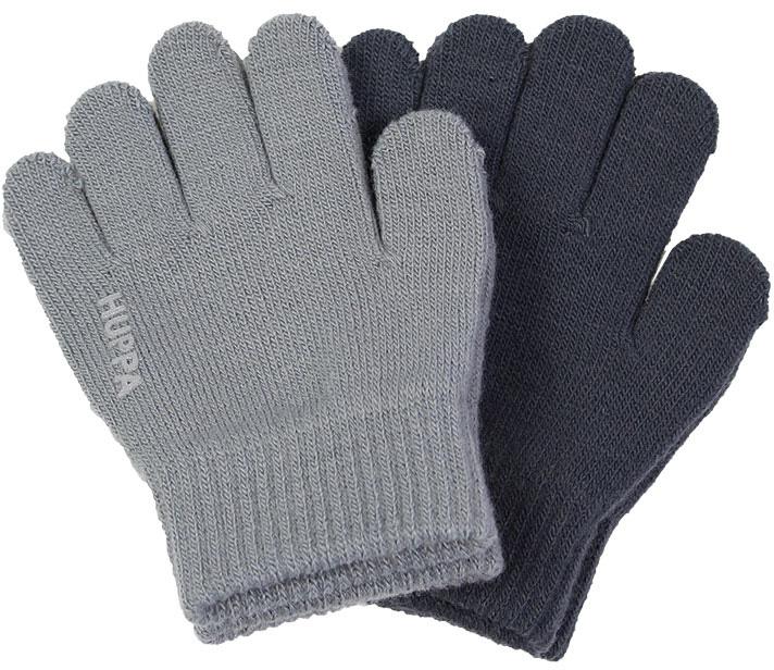 Перчатки детские Huppa Levi 2, цвет: серый, темно-серый, 2 пары. 82050002-00148. Размер 282050002-00148Теплые перчатки Huppa Levi прекрасно подойдут для повседневных прогулок в прохладную погоду. Изделие выполнено из акриловой пряжи и оформлено названием бренда. Перчатки хорошо сохраняют тепло, мягкие, идеально сидят на руке и хорошо тянутся. Манжеты перчаток связаны плотной резинкой, благодаря чему они надежно фиксируются на ручках. Однотонная расцветка делает эти перчатки стильным и практичным предметом детского гардероба. В них ваш ребенок будет чувствовать себя уютно и комфортно! В комплект входит две пары перчаток.