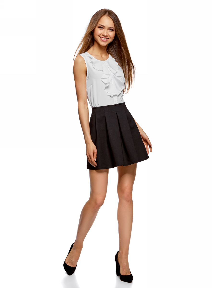 Блузка женская oodji Ultra, цвет: белый. 11401265/47190/1200N. Размер 36-170 (42-170) блузка женская oodji ultra цвет белый 11411062 1 43291 1200n размер 36 170 42 170