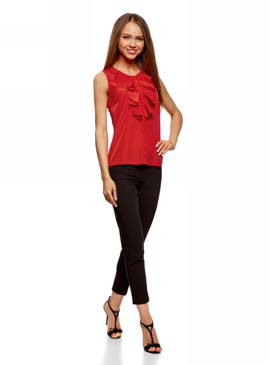 все цены на  Блузка женская oodji Ultra, цвет: красный. 11401265/47190/4500N. Размер 44-170 (50-170)  онлайн