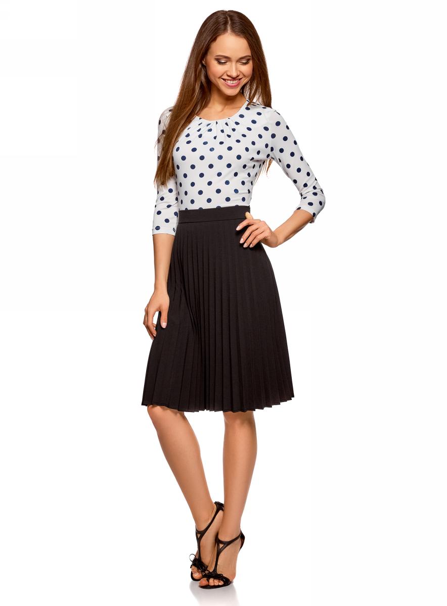 Юбка oodji Collection, цвет: черный. 21606020-2/45660/2900N. Размер 42-170 (48-170) платье oodji collection цвет черный белый 24001104 1 35477 1079s размер l 48