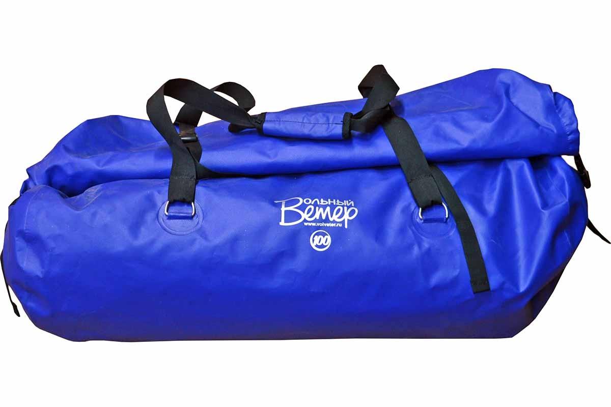 Гермобаул Вольный ветер, цвет: синий, 100 л21031Гермобаул - это герметичная сумка объёмом в 100 литров, которая прекрасно подходит для путешествий на любые мероприятия, связанные с водой. Эта герметичная сумка имеет шесть металлических полуколец, приваренных на станках с ТВЧ. Узлы и технология установки полуколец на гермосумку обеспечивают прочность и герметичность гермобаула даже при экстремально высоких нагрузках, превышающих реальную нагрузку гермосумки в 2-3 раза. Также эти металлические полукольца позволяют надёжно закрепить гермобаул на катамаране, во время категорийного сплава, или в лодке во время простого путешествия. Все швы гермосумки (гермобаула) проварены. Вдоль клапана гермосумки (гермобаула) пришита пластиковая лента, что обеспечивает более плотную скрутку и фиксацию клапана.