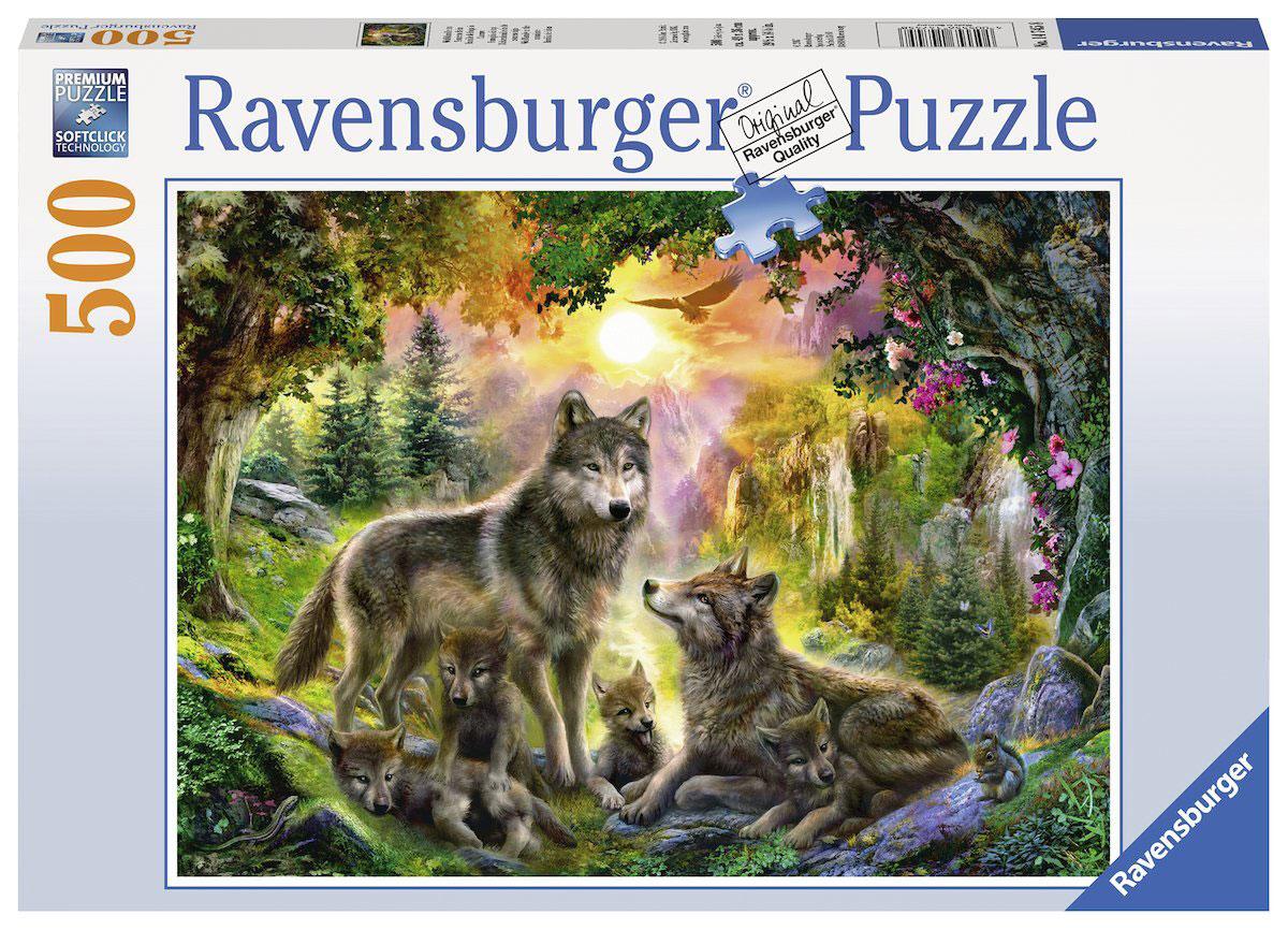 Ravensburger Пазл Семья волков в лесу