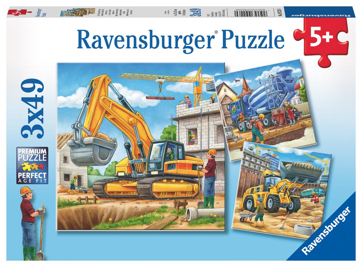 Ravensburger Пазл для малышей Большие строительные машины 3 в 1 ravensburger подводный мир пазл 5000 элементов