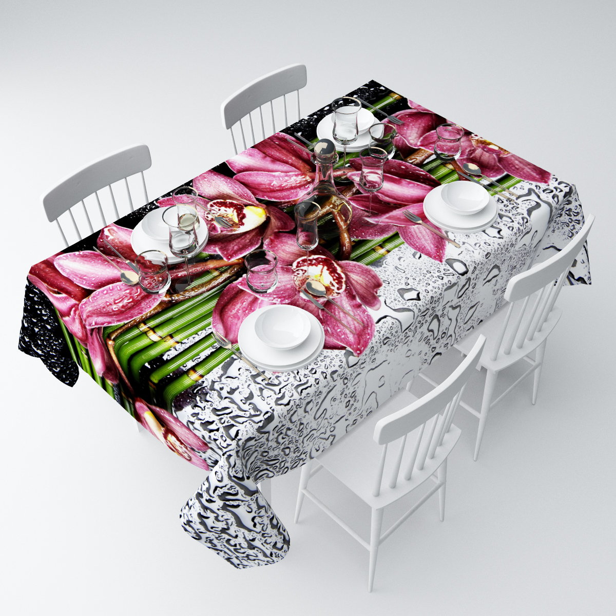 Скатерть Сирень Распустившаяся орхидея, прямоугольная, 145 х 120 смСКГБ003-03849Прямоугольная скатерть Сирень Распустившаяся орхидея, выполненная изгабардина с ярким рисунком, преобразит вашу кухню, визуальнорасширит пространство, создаст атмосферу радости и комфорта.Рекомендации по уходу: стирка при 30 градусах, гладить при температуре до 110градусов. Размер скатерти: 145 х 120 см.Изображение может немного отличаться от реального.