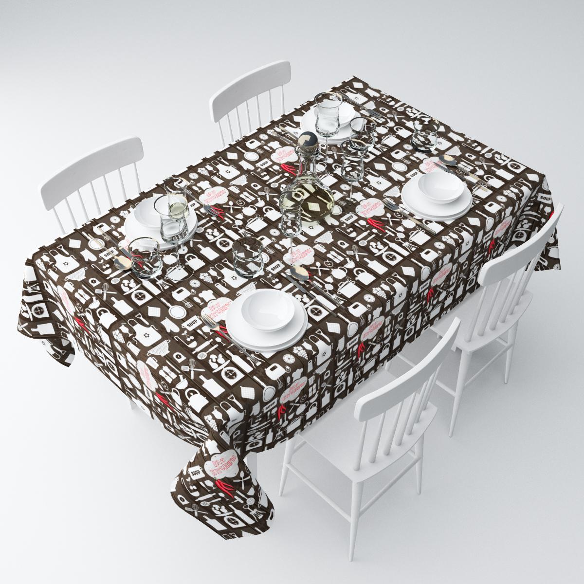 Скатерть Сирень Моя кухня, прямоугольная, 145 х 120 смСКГБ003-04060Прямоугольная скатерть Сирень Моя кухня, выполненная из габардина с ярким рисунком, преобразит вашу кухню, визуально расширит пространство, создаст атмосферу радости и комфорта. Рекомендации по уходу: стирка при 30 градусах, гладить при температуре до 110 градусов.Размер скатерти: 145 х 120 см. Изображение может немного отличаться от реального.