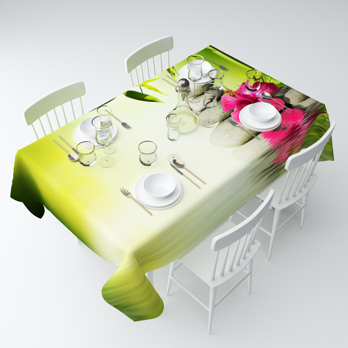 Скатерть Сирень Фен-шуй, прямоугольная, 145 х 120 смСКГБ003-04579Прямоугольная скатерть Сирень Фен-шуй, выполненная изгабардина с ярким рисунком, преобразит вашу кухню, визуальнорасширит пространство, создаст атмосферу радости и комфорта.Рекомендации по уходу: стирка при 30 градусах, гладить при температуре до 110градусов. Размер скатерти: 145 х 120 см.Изображение может немного отличаться от реального.