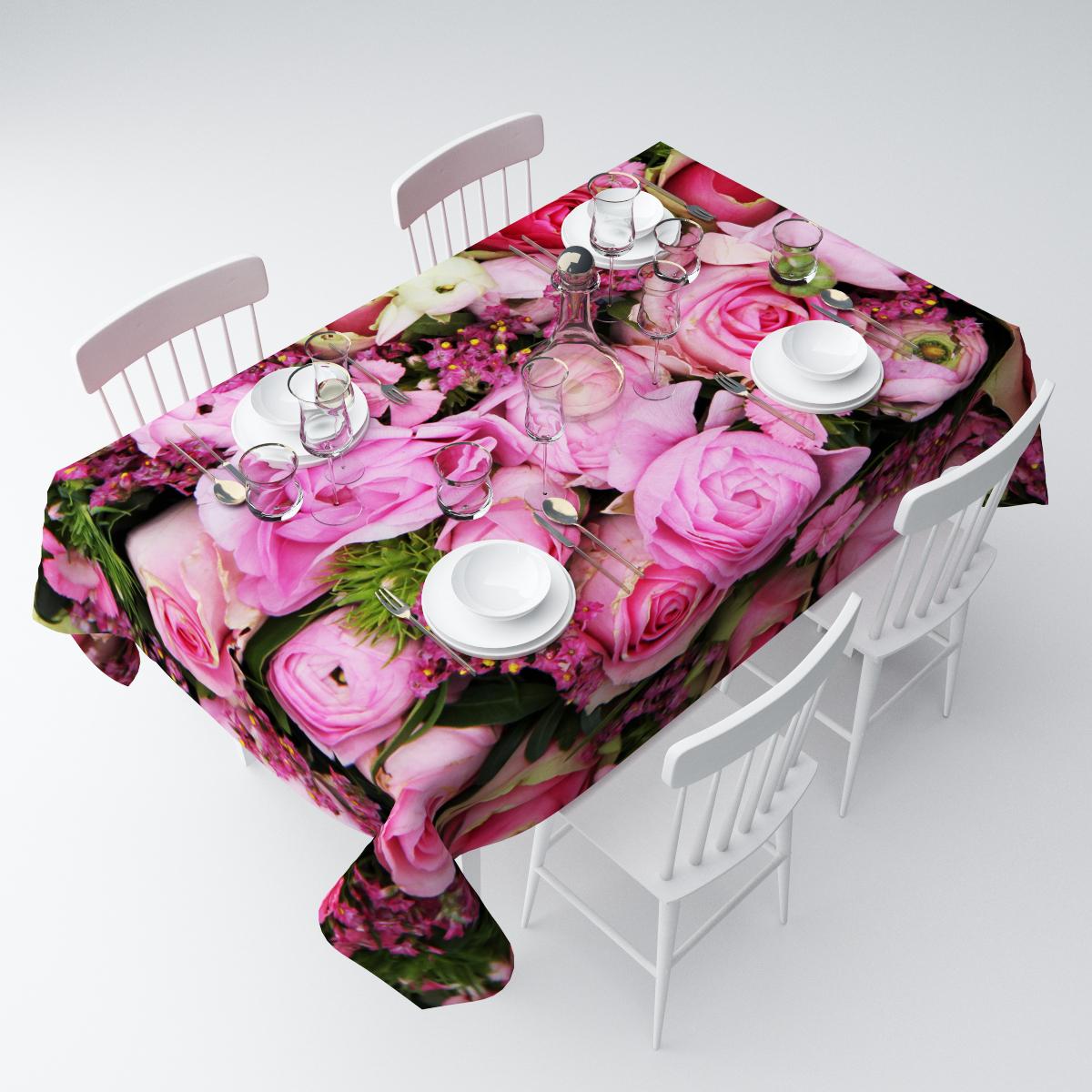 Скатерть Сирень Розовое счастье, прямоугольная, 145 х 120 смСКГБ003-09186Прямоугольная скатерть Сирень Розовое счастье, выполненная из габардина с ярким рисунком, преобразит вашу кухню, визуально расширит пространство, создаст атмосферу радости и комфорта. Рекомендации по уходу: стирка при 30 градусах, гладить при температуре до 110 градусов.Размер скатерти: 145 х 120 см. Изображение может немного отличаться от реального.
