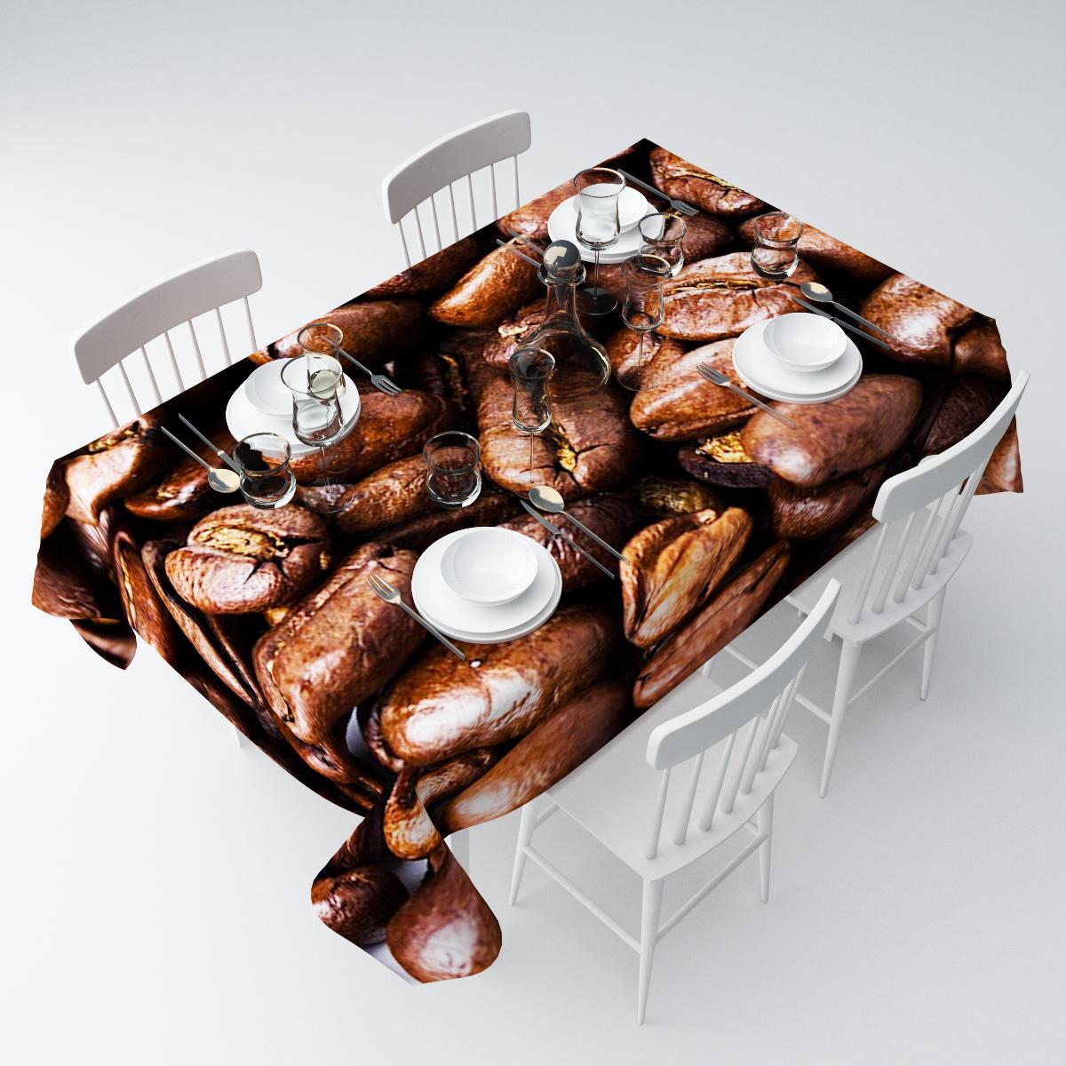 Скатерть Сирень Ароматный кофе, прямоугольная, 145 х 220 смСКГБ004-00992Прямоугольная скатерть Сирень Ароматный кофе, выполненная из габардина с ярким рисунком, преобразит вашу кухню, визуально расширит пространство, создаст атмосферу радости и комфорта. Рекомендации по уходу: стирка при 30 градусах, гладить при температуре до 110 градусов.Размер скатерти: 145 х 220 см. Изображение может немного отличаться от реального.