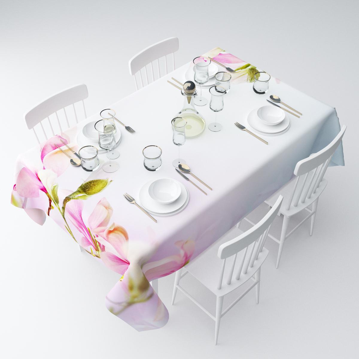 Скатерть Сирень Розовые бутоны, прямоугольная, 145 х 220 смСКГБ004-03482Прямоугольная скатерть Сирень Розовые бутоны, выполненная из габардина с ярким рисунком, преобразит вашу кухню, визуально расширит пространство, создаст атмосферу радости и комфорта. Рекомендации по уходу: стирка при 30 градусах, гладить при температуре до 110 градусов.Размер скатерти: 145 х 220 см. Изображение может немного отличаться от реального.
