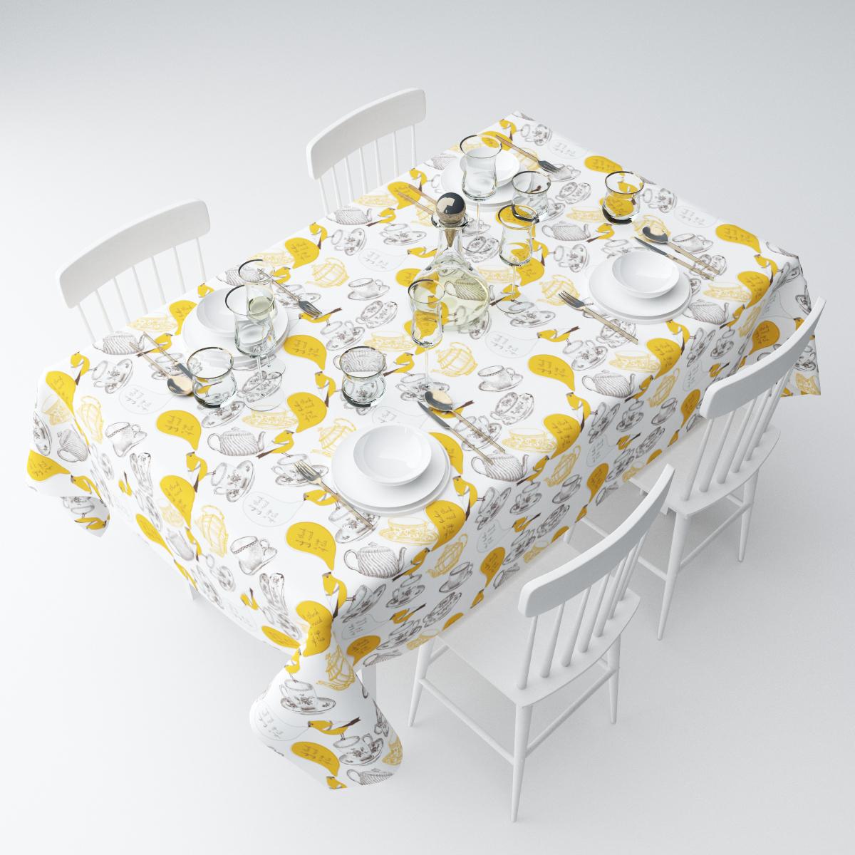 Скатерть Сирень Чашка чая, прямоугольная, 145 х 220 смСКГБ004-04463Прямоугольная скатерть Сирень Чашка чая, выполненная из габардина с ярким рисунком, преобразит вашу кухню, визуально расширит пространство, создаст атмосферу радости и комфорта. Рекомендации по уходу: стирка при 30 градусах, гладить при температуре до 110 градусов.Размер скатерти: 145 х 220 см. Изображение может немного отличаться от реального.