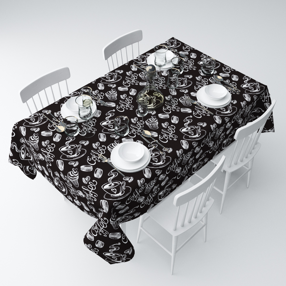 Скатерть Сирень Черный кофе, прямоугольная, 145 х 220 смСКГБ004-05233Прямоугольная скатерть Сирень Черный кофе, выполненная из габардина с ярким рисунком, преобразит вашу кухню, визуально расширит пространство, создаст атмосферу радости и комфорта. Рекомендации по уходу: стирка при 30 градусах, гладить при температуре до 110 градусов.Размер скатерти: 145 х 220 см. Изображение может немного отличаться от реального.