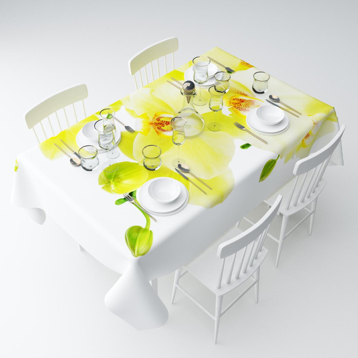Скатерть Сирень Желтый фаленопсис, прямоугольная, 145 х 220 см3112009620Прямоугольная скатерть Сирень Желтый фаленопсис, выполненная изгабардина с ярким рисунком, преобразит вашу кухню, визуальнорасширит пространство, создаст атмосферу радости и комфорта.Рекомендации по уходу: стирка при 30 градусах, гладить при температуре до 110градусов. Размер скатерти: 145 х 220 см.Изображение может немного отличаться от реального.