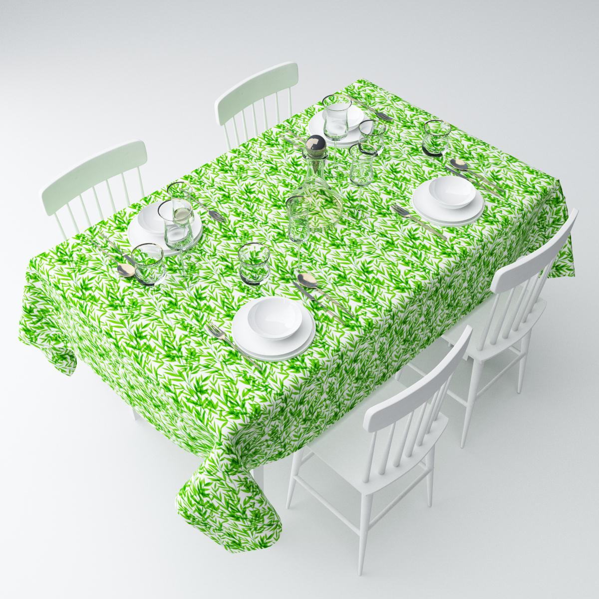 Скатерть Сирень Зеленые ветки, прямоугольная, 145 х 220 смСКГБ004-05636Скатерть Сирень с ярким и объемным рисунком преобразит Вашу кухню, визуально расширит пространство, создаст атмосферу радости и комфорта. Размеры: 145х220 Рекомендации по уходу: стирка при 30 градусах гладить при температуре до 110 градусов Изображение на мониторе может немного отличаться от реального.