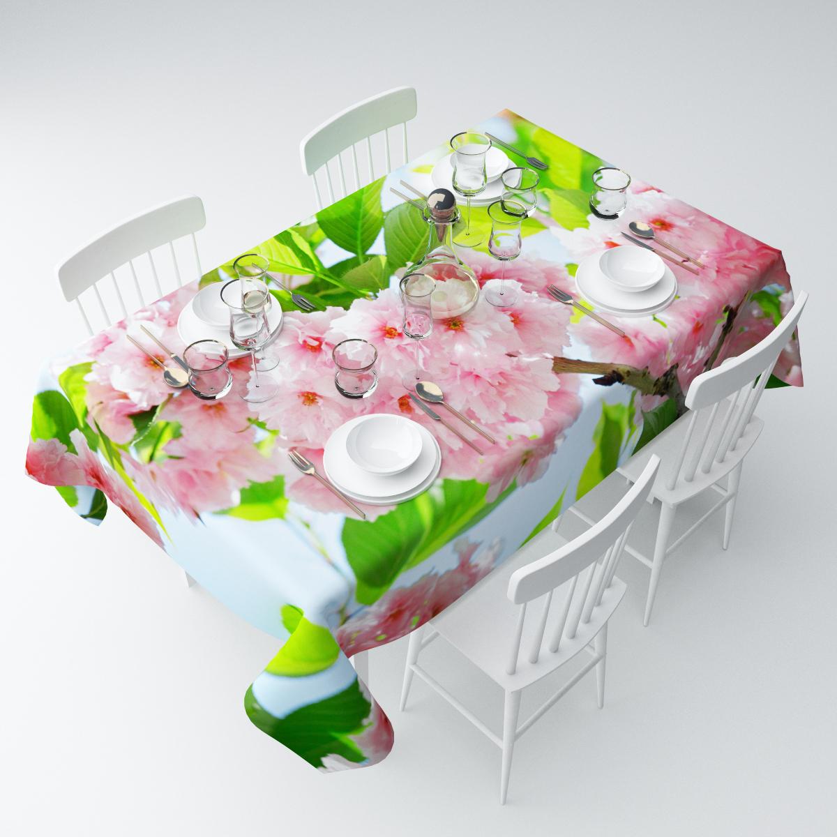 Скатерть Сирень Ветка японской розы, прямоугольная, 145 х 220 смСКГБ004-08404Скатерть Сирень с ярким и объемным рисунком преобразит Вашу кухню, визуально расширит пространство, создаст атмосферу радости и комфорта. Размеры: 145х220 Рекомендации по уходу: стирка при 30 градусах гладить при температуре до 110 градусов Изображение на мониторе может немного отличаться от реального.