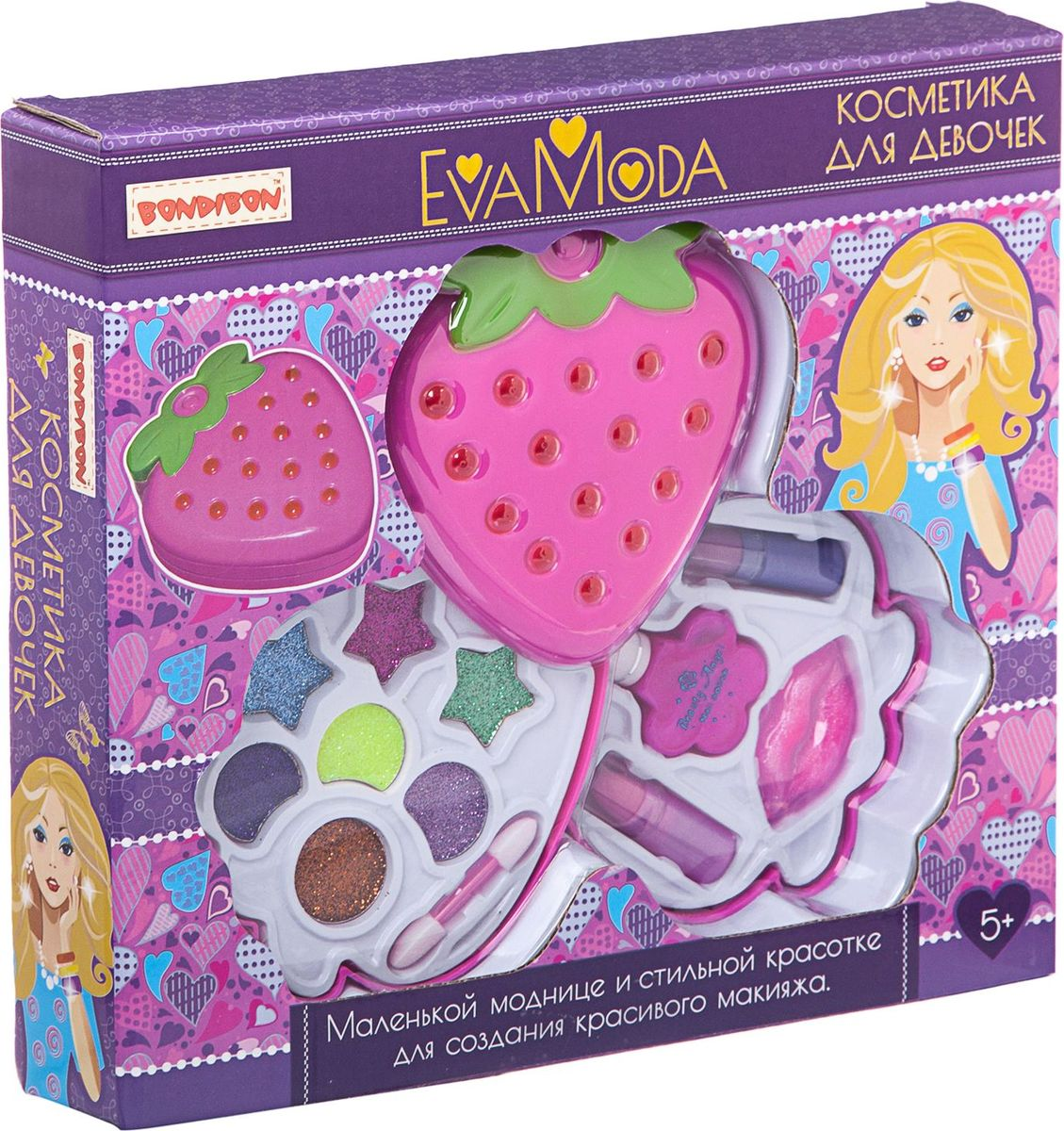 Bondibon Набор детской декоративной косметики Eva Moda ВВ1774 набор для творчества от bondibon и eva moda сверкающие кольца