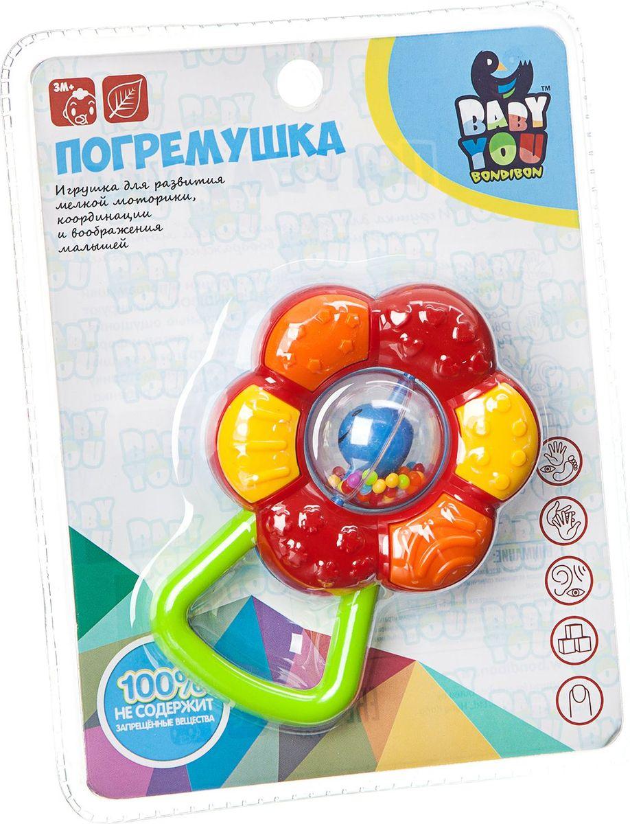 Bondibon Погремушка Цветок bondibon мягкая игрушка погремушка слоник