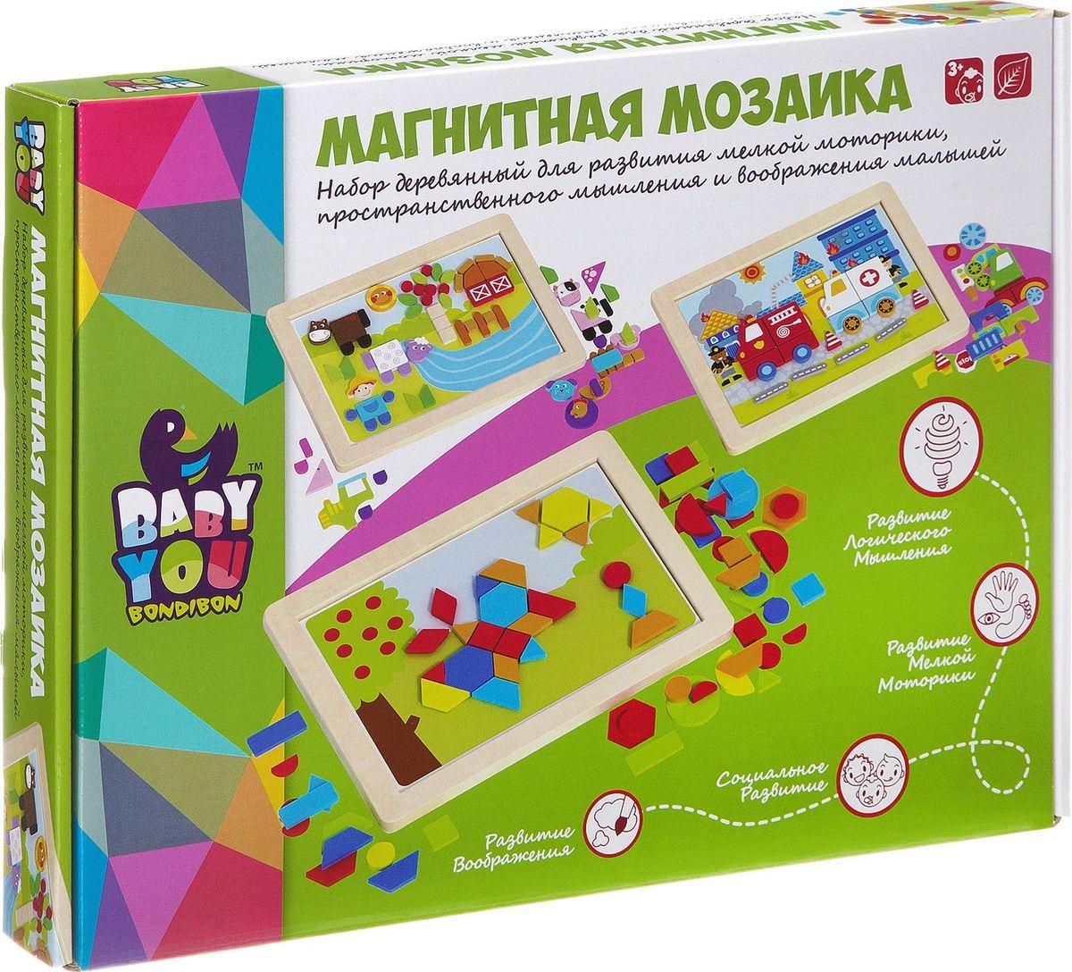 Bondibon Магнитная мозаика Транспорт mag rus мозаика магнитная деревенский дворик