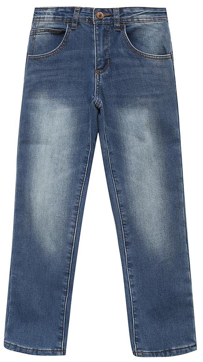 Джинсы для мальчика Sela, цвет: синий джинс. PJ-835/020-7361. Размер 128, 8 летPJ-835/020-7361Джинсы для мальчика от Sela выполнены из эластичного хлопка. Модель Slim Straight в талии застегивается на пуговицу, имеются шлевки для ремня и ширинка на застежке-молнии. Джинсы имеют классический пятикарманный крой.
