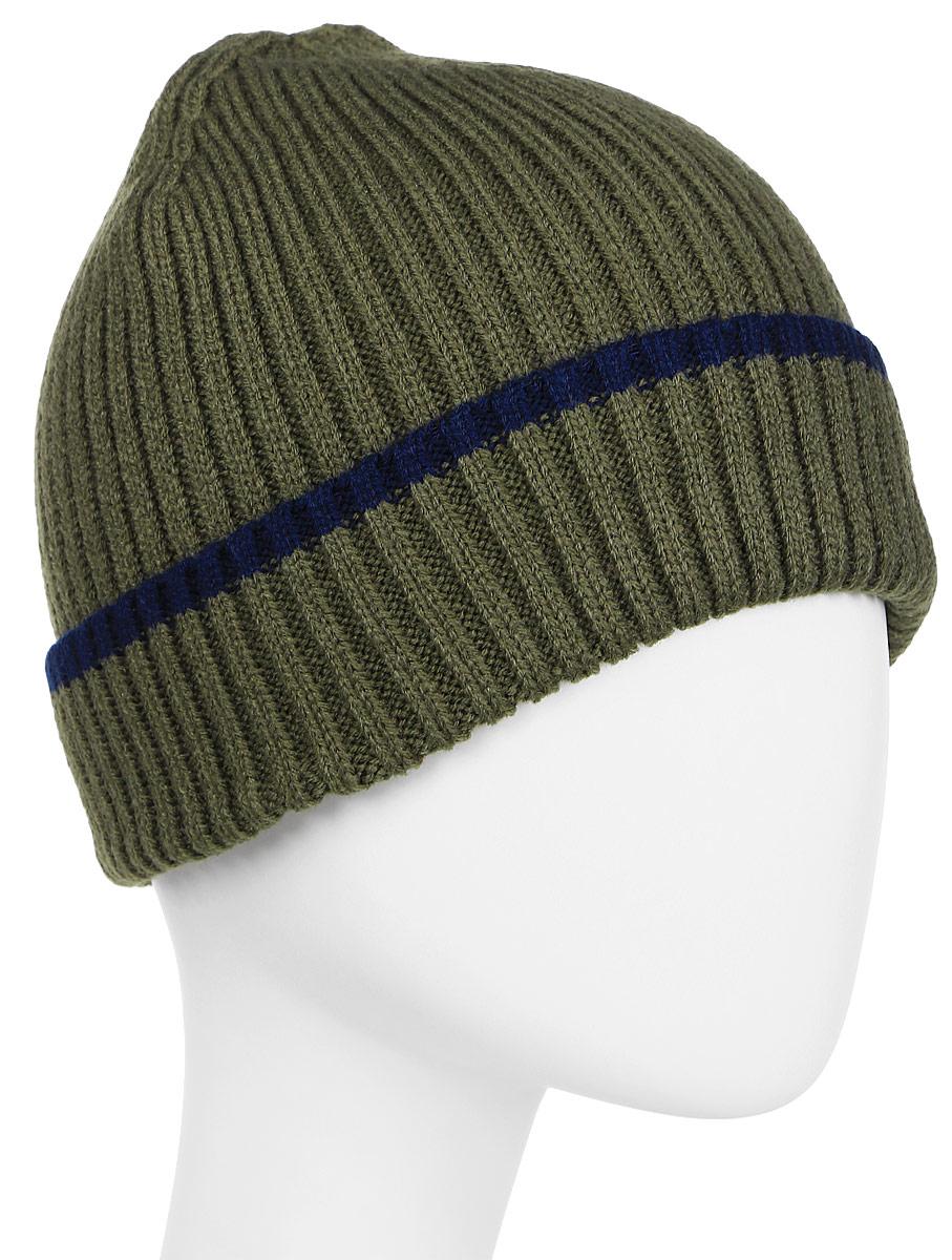 Шапка для мальчика Acoola Celia, цвет: хаки. 20136400031. Размер L (54)20136400031Детская шапка от Acoola выполнена из натуральной акриловой пряжи и дополнена отворотом. Такая шапка согреет вашего ребенка в холодное время года.