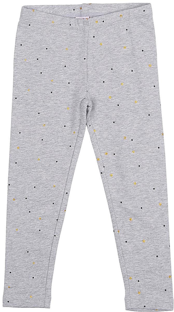 Брюки для девочки Sela, цвет: серый меланж. PLG-515/403-7331. Размер 110, 5 летPLG-515/403-7331