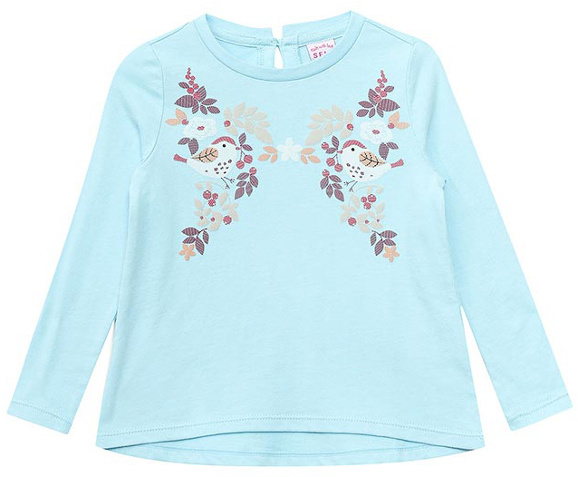Джемпер для девочки Sela, цвет: пастельно-голубой. T-511/363-7422. Размер 116, 6 летT-511/363-7422