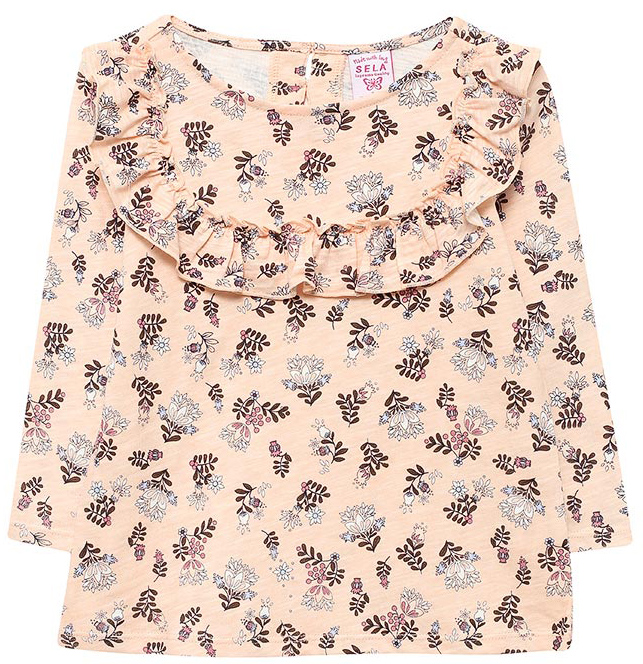 Джемпер для девочки Sela, цвет: бледно-розовый. T-511/422-7321. Размер 104, 4 годаT-511/422-7321