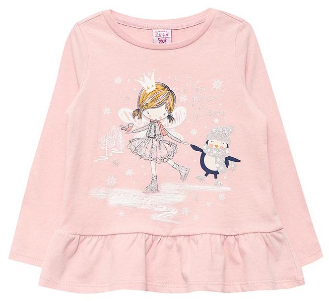 Джемпер для девочки Sela, цвет: бледно-розовый. T-511/440-7412. Размер 98, 3 годаT-511/440-7412