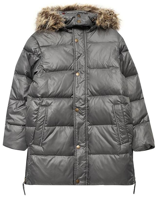 Пальто для мальчика Sela, цвет: темно-серый. Ced-826/387-7462. Размер 122, 7 летCed-826/387-7462