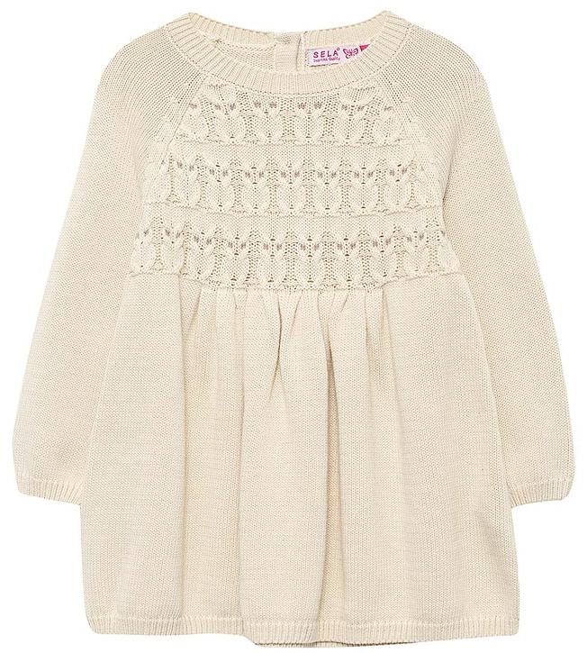 Платье для девочки Sela, цвет: морская пена. DSw-517/406-7432. Размер 98, 3 годаDSw-517/406-7432
