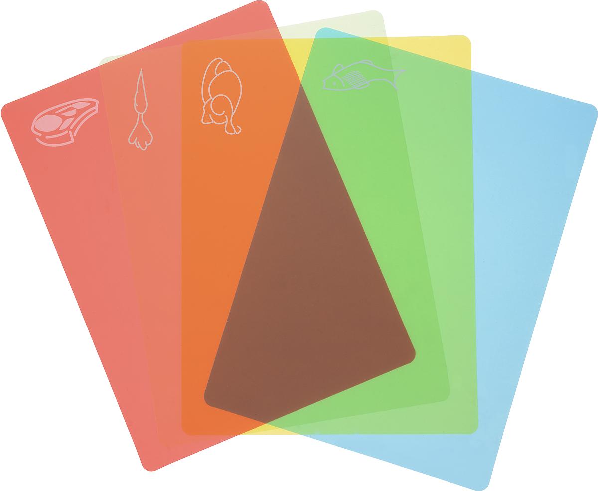 Набор гибких разделочных досокBradex, 28 х 38 см, 4 шт. TK 0174TK 0174Набор гибких разделочных досокBradex – практичный, удобный и современный аксессуар на вашей кухне.Преимущества:1. легко моется и не впитывают влагу2. в комплекте 4 доски с большой рабочей поверхностью3. простая система цветных индикаторов и рисунков для обозначения продукта, который можно резать на данной доске4. легко скручивается для удобного хранения и легкого перемещения нарезанных продуктов в кастрюлю, сковороду, тарелку и т.д.5. незаменим на пикнике и на даче