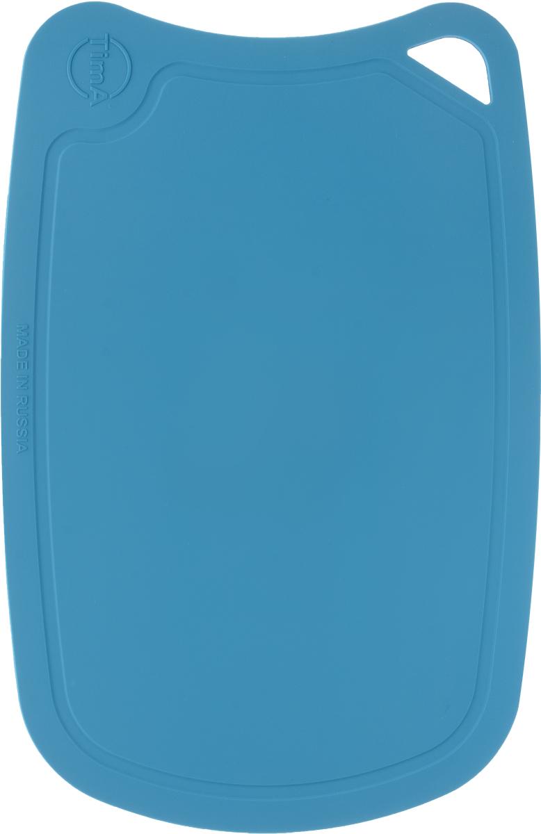 Доска разделочная TimA, цвет: бирюзовый, 28 х 19 смДРГ-2819_бирюзовыйГибкая разделочная доска TimA, изготовленная из высококачественного полиуретана, займет достойное место среди аксессуаров на вашей кухне. Благодаря гибкости, с доски удобно высыпать нарезанные продукты. Она не тупит металлические и керамические ножи. Не впитывает влагу и легко моется. Обладает исключительной прочностью и износостойкостью.Доска TimA прекрасно подойдет для нарезки любых продуктов.