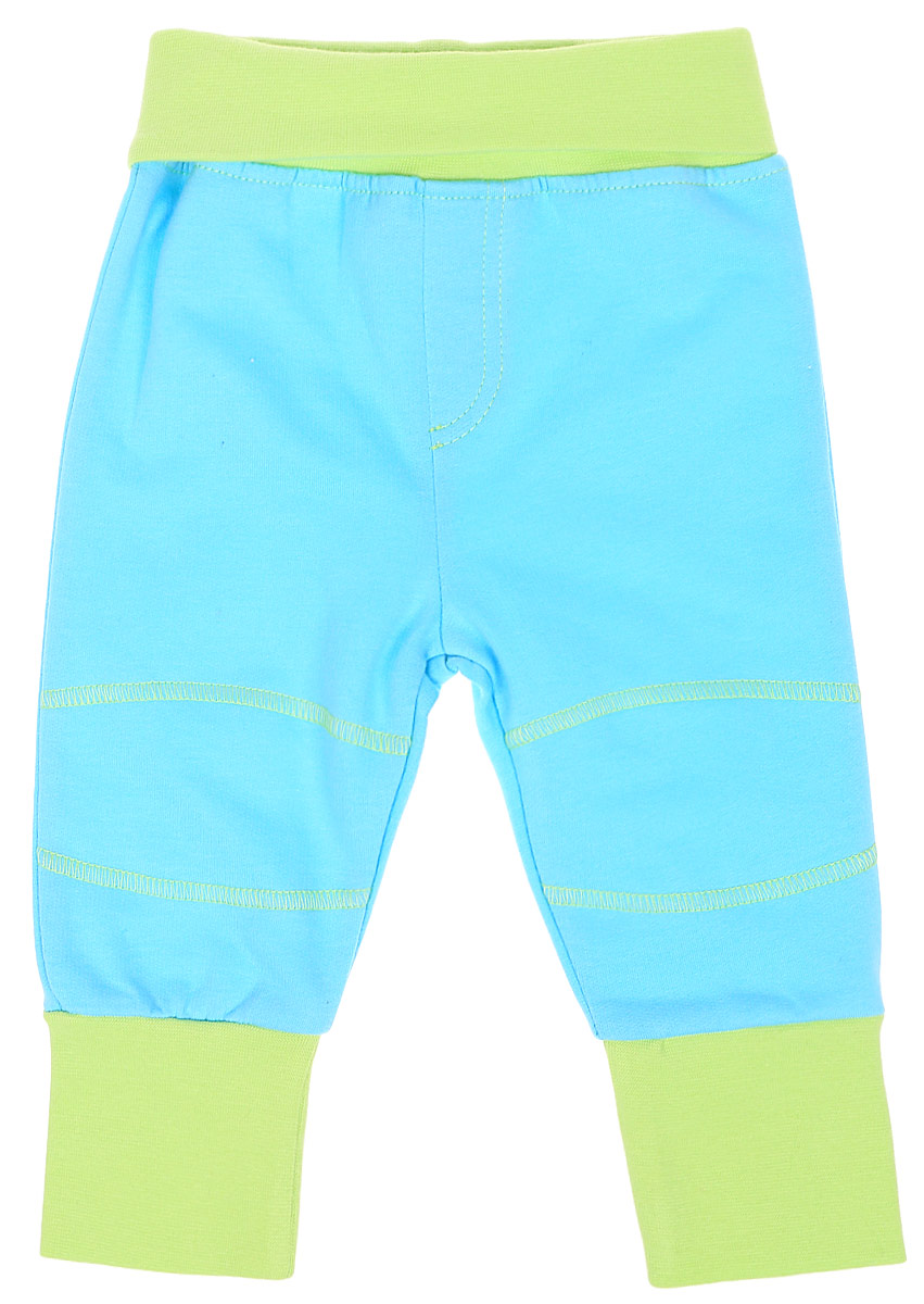 Штанишки для мальчика Cherubino, цвет: бирюзовый. CWN 7628 (157). Размер 68CWN 7628 (157)Штанишки для мальчика Cherubino выполнены из гладкокрашенного трикотажа с начесом. Модель с комфортным поясом и манжетами по низу брючин.