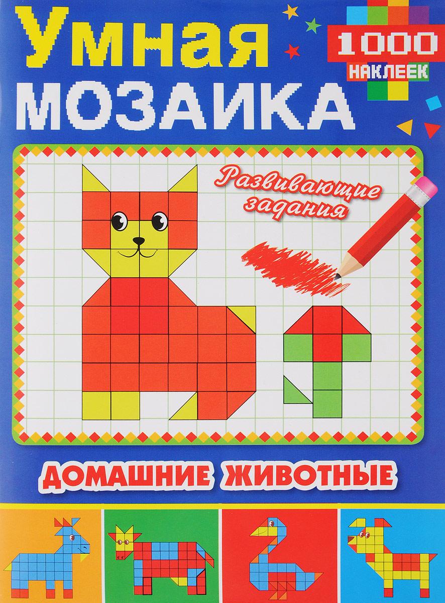 Домашние животные. Умная мозаика с наклейками раскраски мозаика синтез с наклейками домашние животные