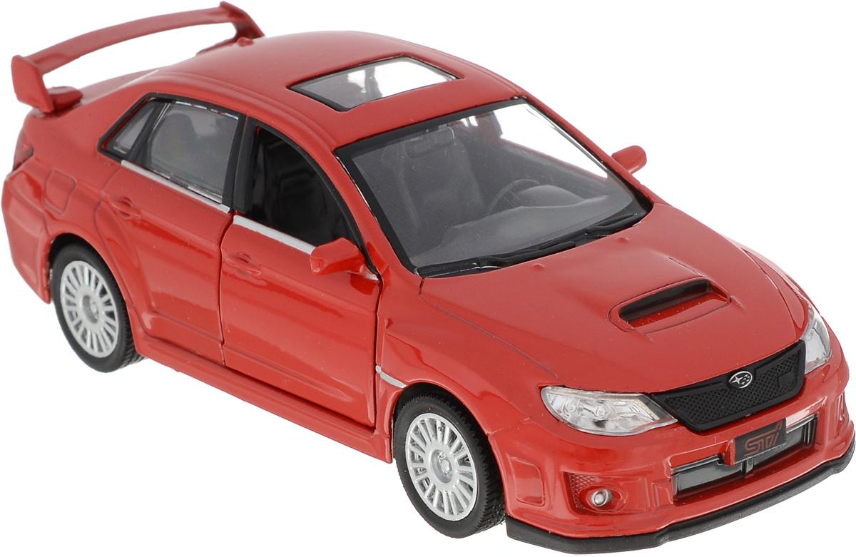 Autotime Модель автомобиля Subaru WRX STI цвет красный autotime набор машинок recovery truck long эвакуатор с прицепом