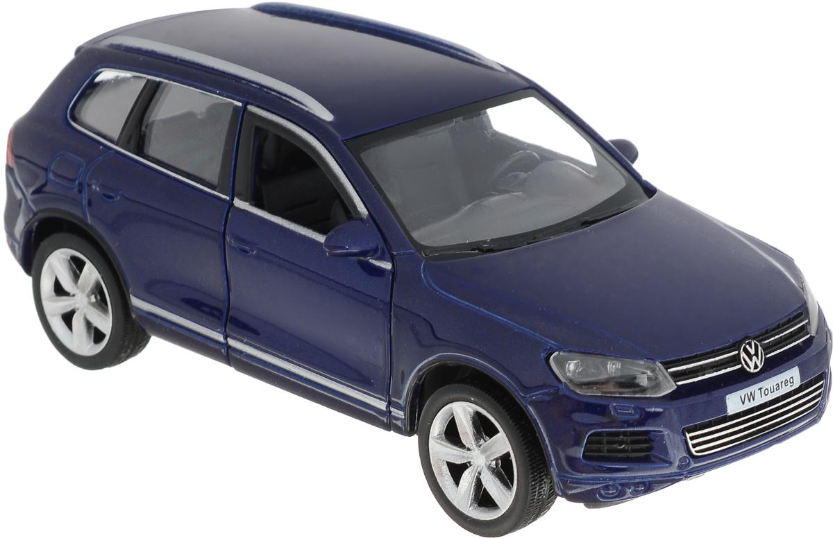 Autotime Модель автомобиля Volkswagen Touareg цвет синий autotime набор машинок recovery truck long эвакуатор с прицепом